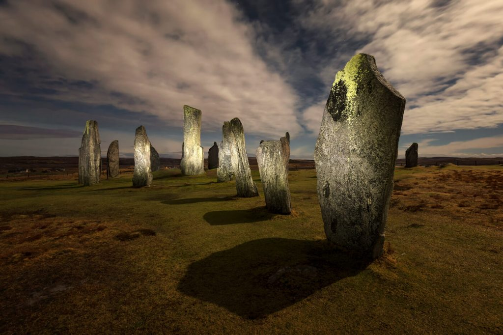 Callanish Standing Stones at Night, Isle of Lewis, Outer Hebrides