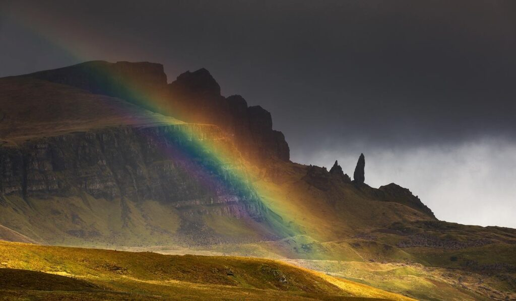 Rainbow at the Old Man of Storr, Isle of Skye, Scotland