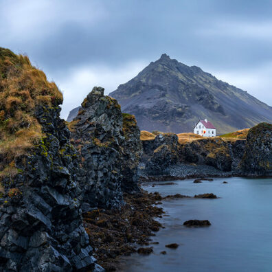 Arnarstapi and Mt Stapafell, Snaefellsnes Peninsula, Iceland