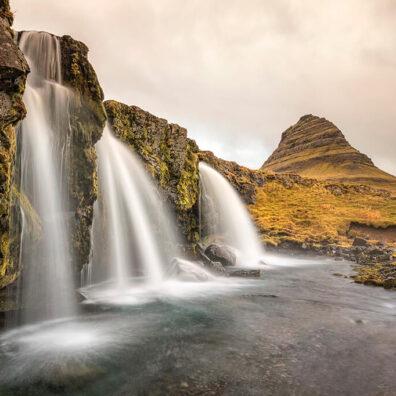 Kirkjufellfoss and Kirkjufell, Snaefellsnes Peninsula, Iceland