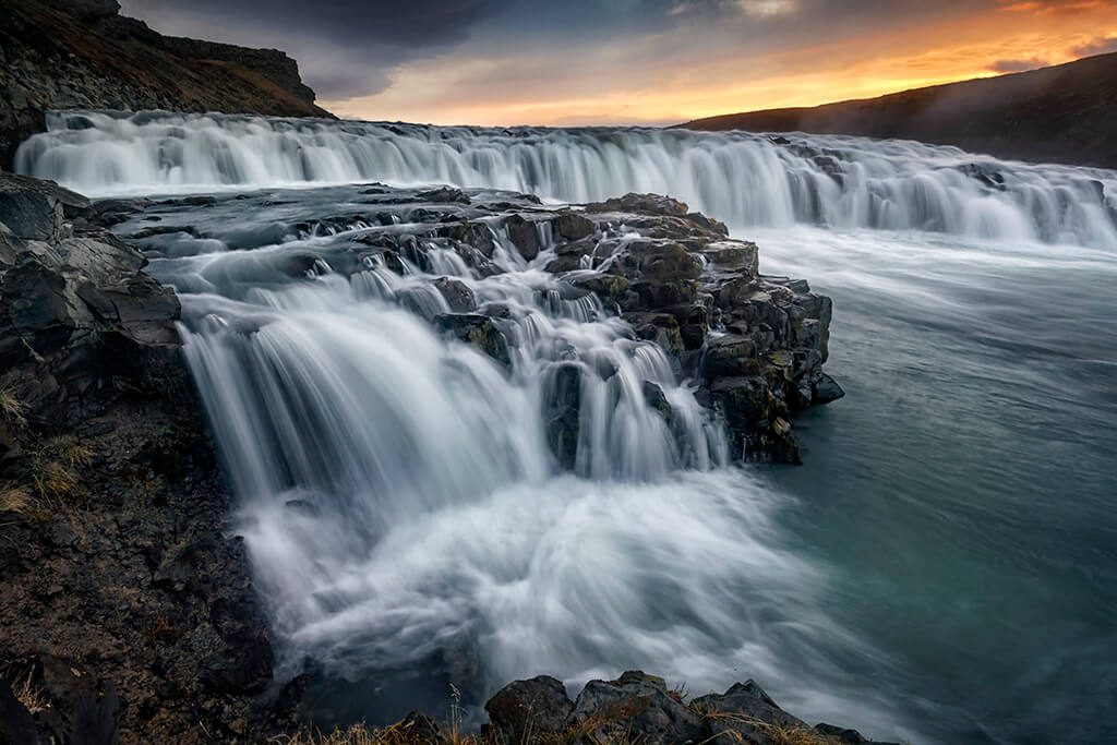 Sunrise, Gullfoss, Golden Circle, Iceland