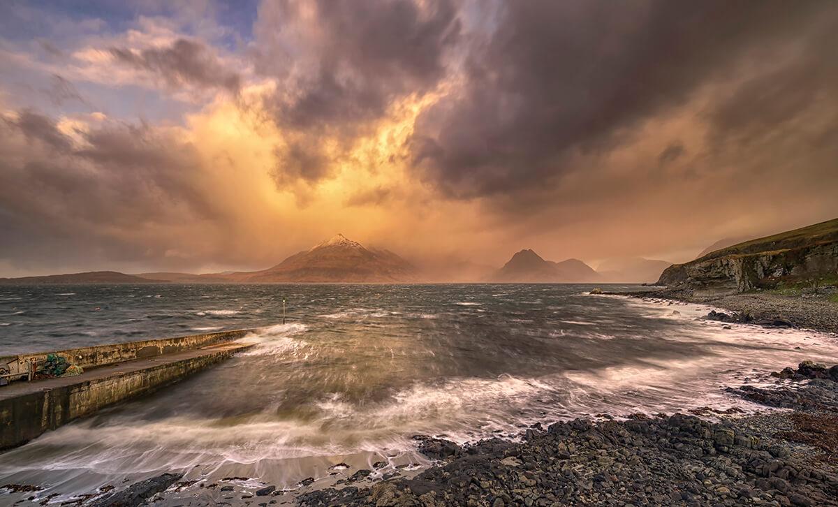 Fiery Elgol, Isle of Skye, Scotland
