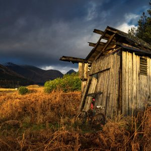Dilapidated Wooden Shed, Glen Etive, Glencoe, Scotland