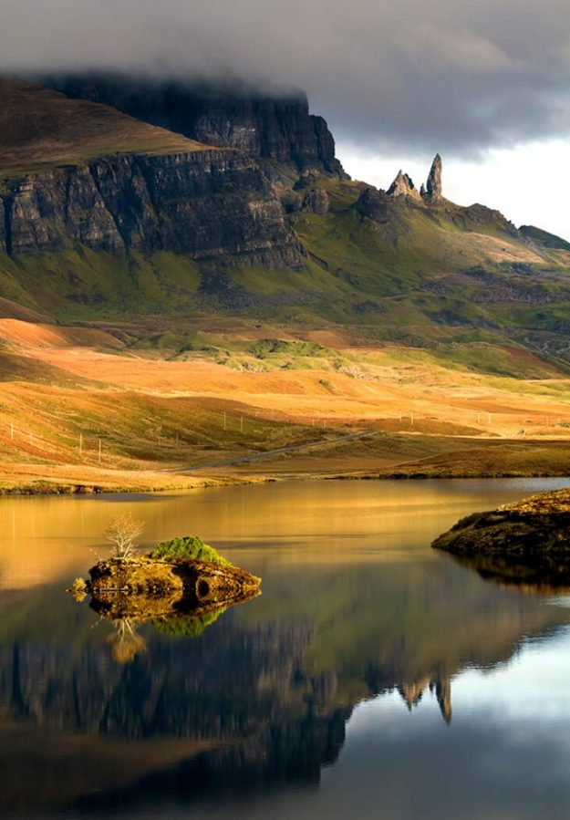 Loch Fada and the Old Man of Storr, Skye