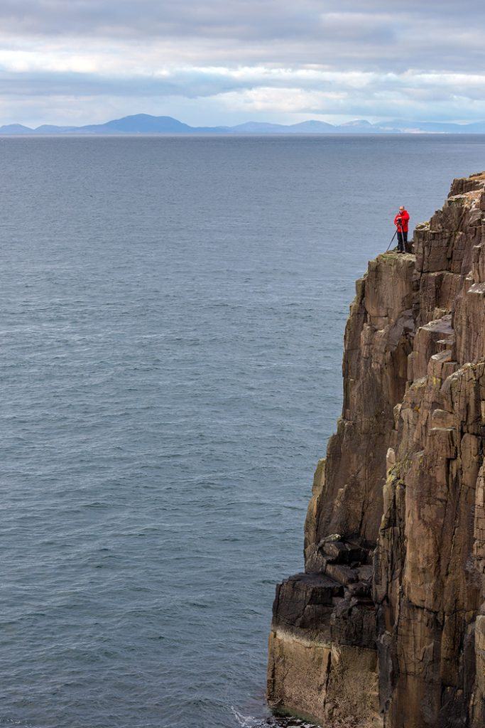 On The Edge, Neist Point Lighthouse, Isle of Skye, Scotland