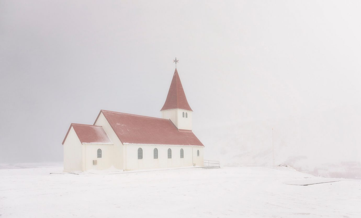 Snow Storm, Church, Vik, Iceland