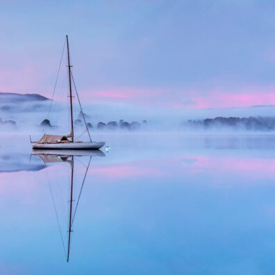 Misty Sunrise, Waterhead, Windermere, Lake District