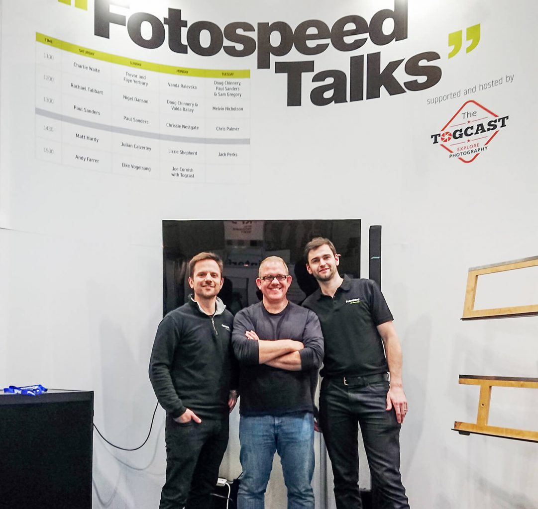 Melvin Nicholson,. Toby Herlinger, Vince Cater, Fotospeed, The Photography Show 2018, NEC, Birmingham