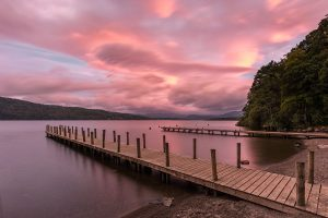 Wooden Piers, Windermere, Lake District