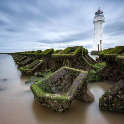 Sea Defences, Perch Rock Lighthouse, New Brighton, Merseyside