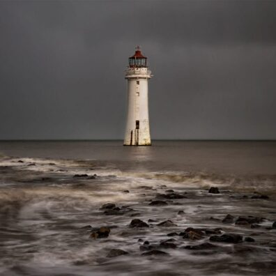 Stormy Skies, Perch Rock Lighthouse, New Brighton, Merseyside