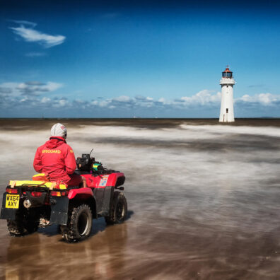 Lifeguard On Duty, Perch Rock Lighthouse, New Brighton, Merseyside