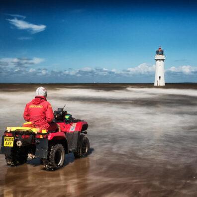 Lifeguard On Duty, Perch Rock Lighthouse, New Brighton, Merseyside