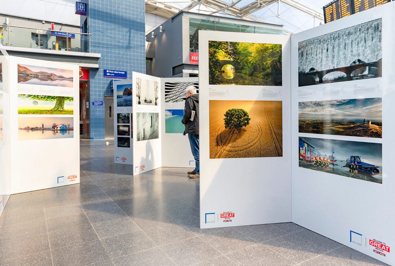 Take-a-View Landscape Photographer of the Year 2017-18 Exhibition Manchester Piccadilly Train Station