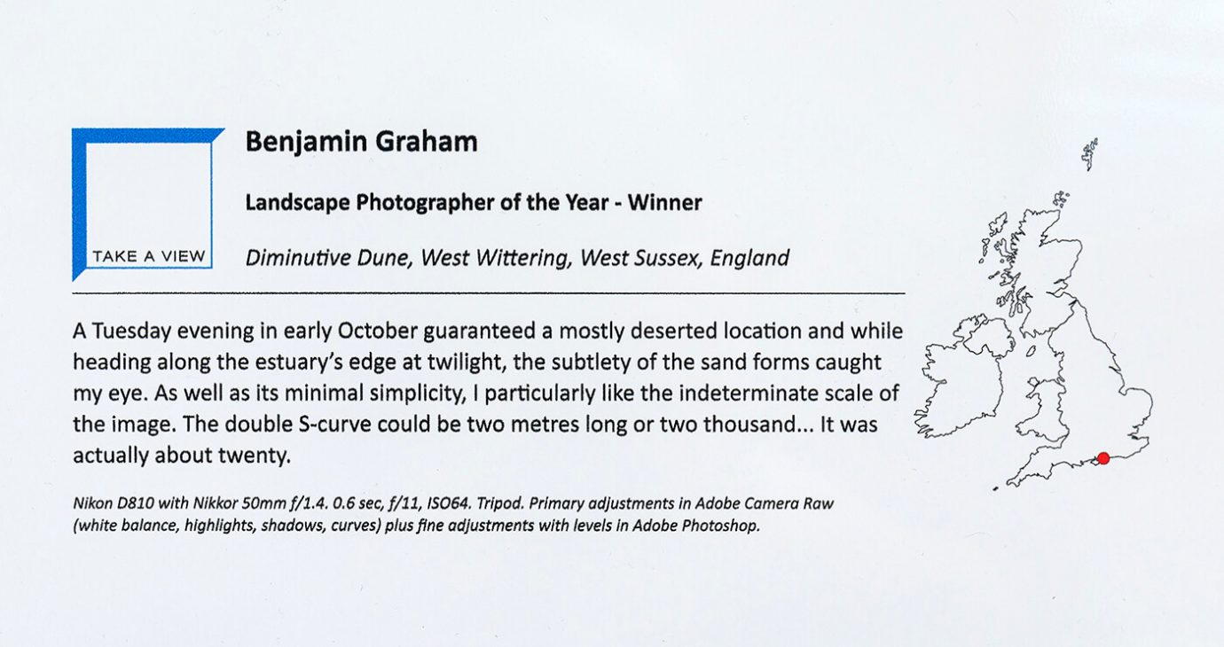 Benjamin Graham - Overall Winner of Take-a-View's Landscape Photographer of the Year 2017-18