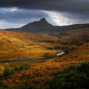 Golden Autumnal Light, Stac Pollaidh, Assynt, Scotland