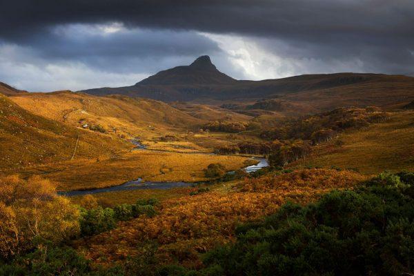 Golden Autumnal Light, Stac Pollaidh, Assynt, Scotland