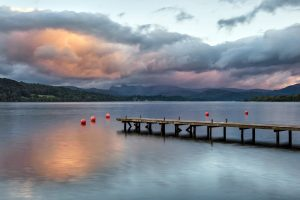 Wooden Pier, Windermere, Lake District