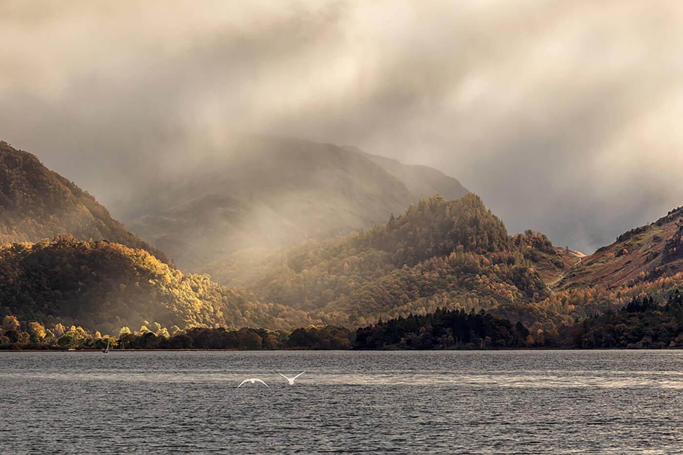 Crepuscular Rays, Derwentwater, Lake District