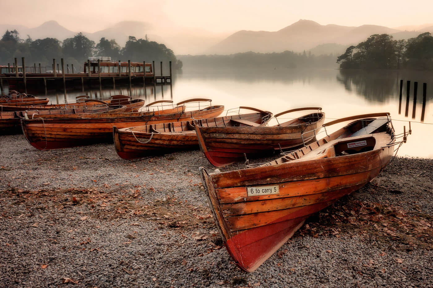 Wooden Rowing Boats, Derwentwater, Lake District