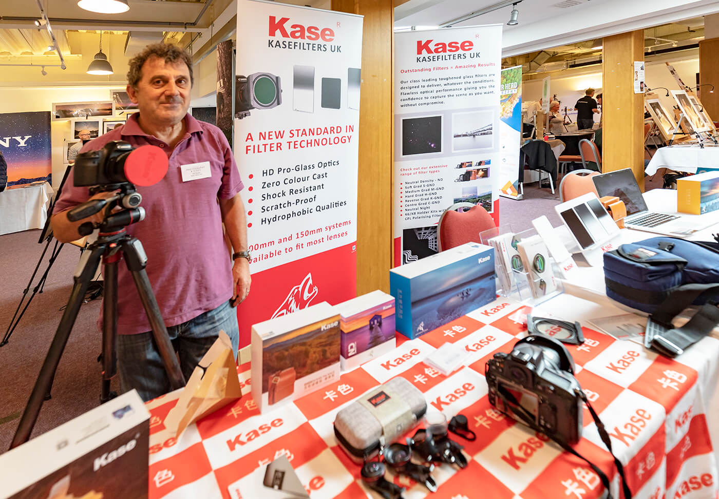 Phil Buckle on the Kase Filters UK stand- The Northern Photography and Video Show 2018