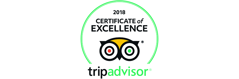 Tripadvisor Certificate of Excellence 2018 Melvin Nicholson Photography