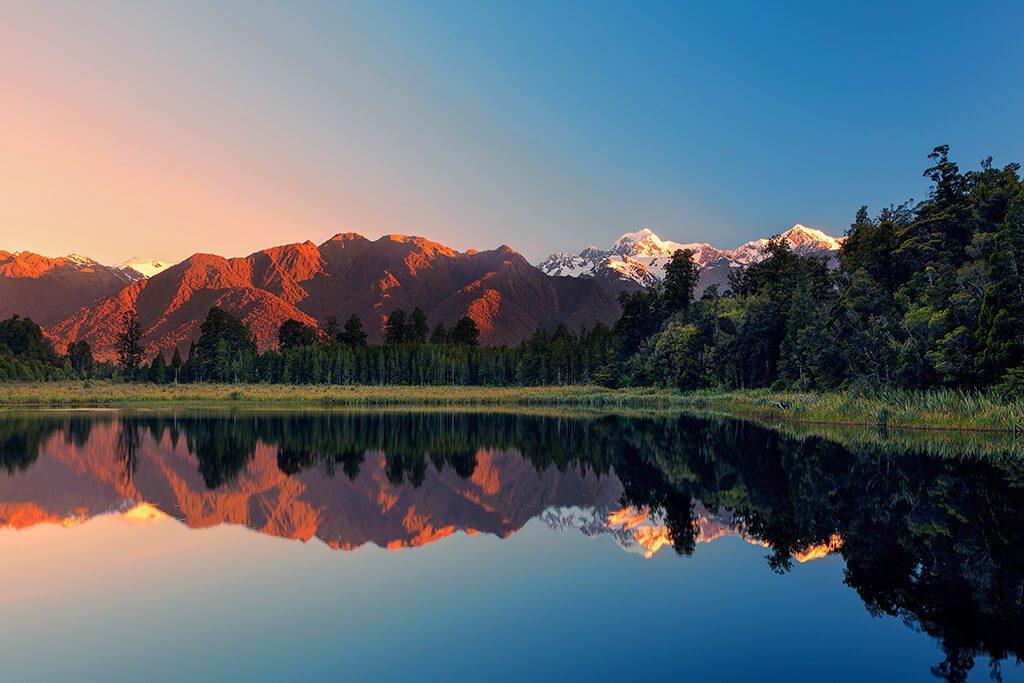 Mt Cook, Matheson Lake, New Zealand