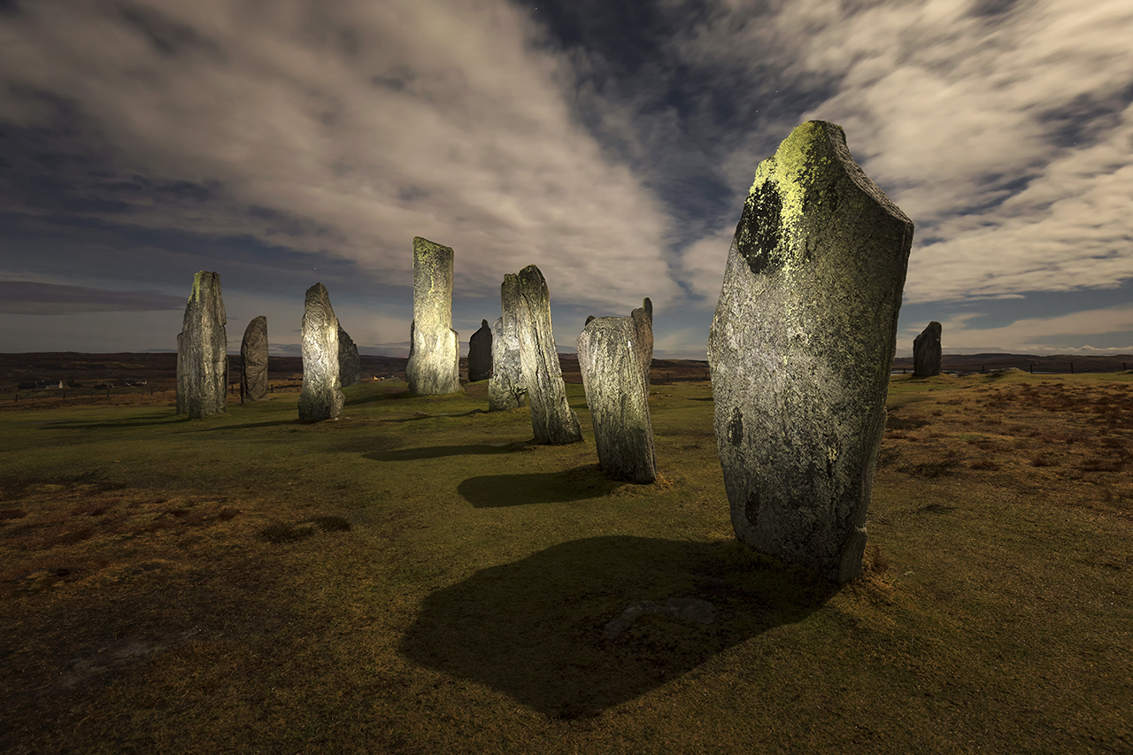 New Year's Eve Moonlight, Callanish Standing Stones, Isle of Lewis, Outer Hebrides