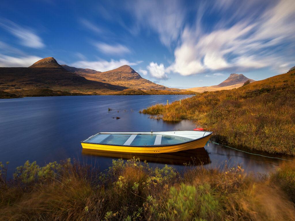 Rowing Boat, Loch Lurgainn, Assynt, Scotland