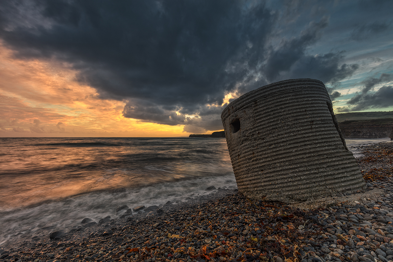 Storm's Rolling In, World War Two Pill Box, Kimmeridge Bay, Dorset