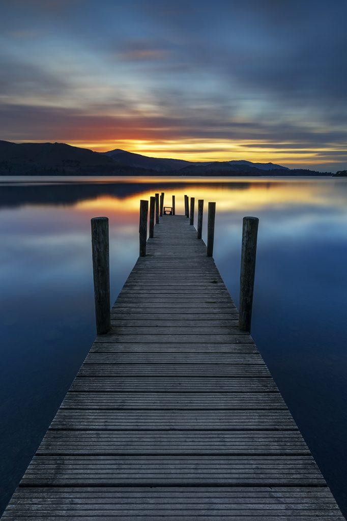 Stunning Sunset, Ashness Landing Pier, photos of the Lake District