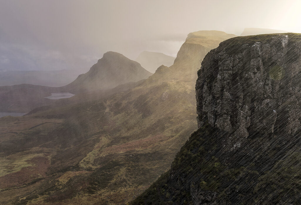 Torrential Rain, Trotternish, Isle of Skye