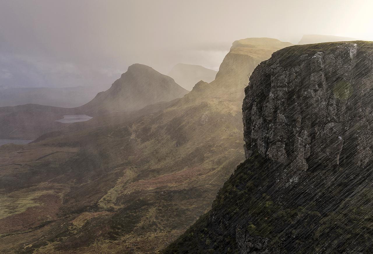 Torrential Rain, Trotternish, Isle of Skye