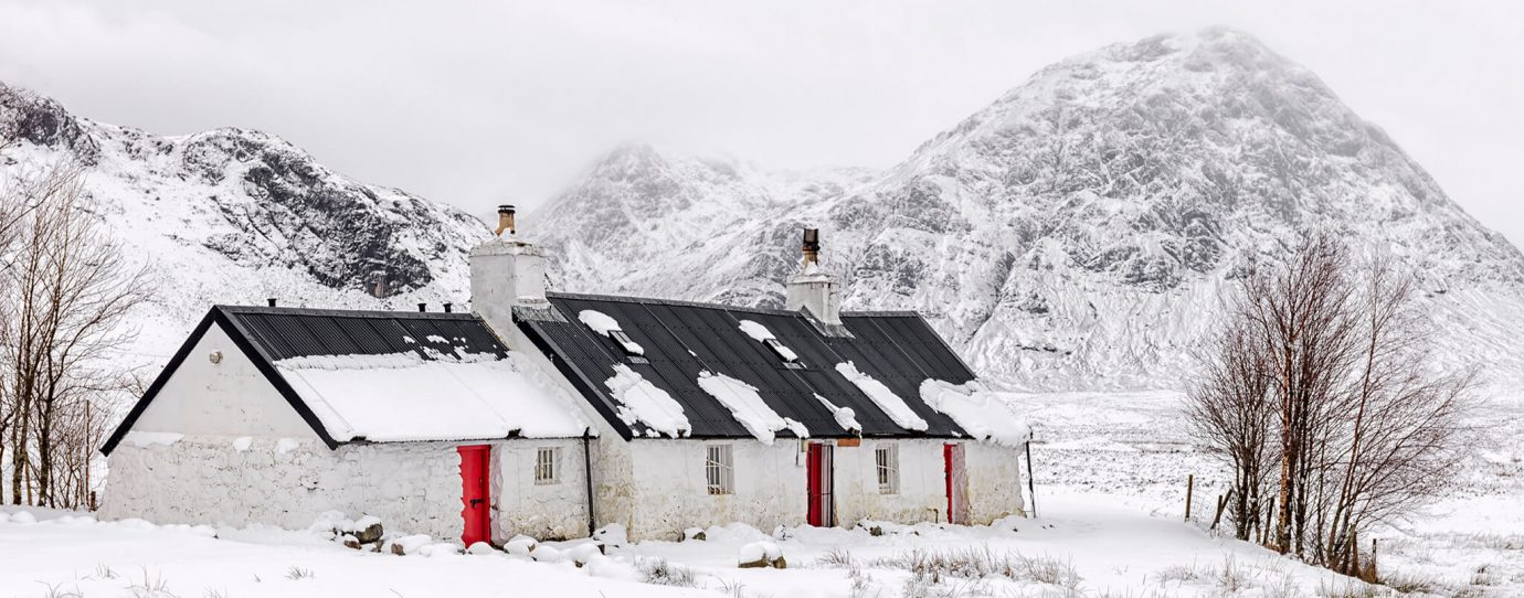 Blackrock Cottage, Stob Dearg, Buachaille Etive Mòr, Rannoch Moor, Glencoe, Scotland