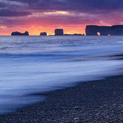 Sunset, Dyrhólaey, Iceland