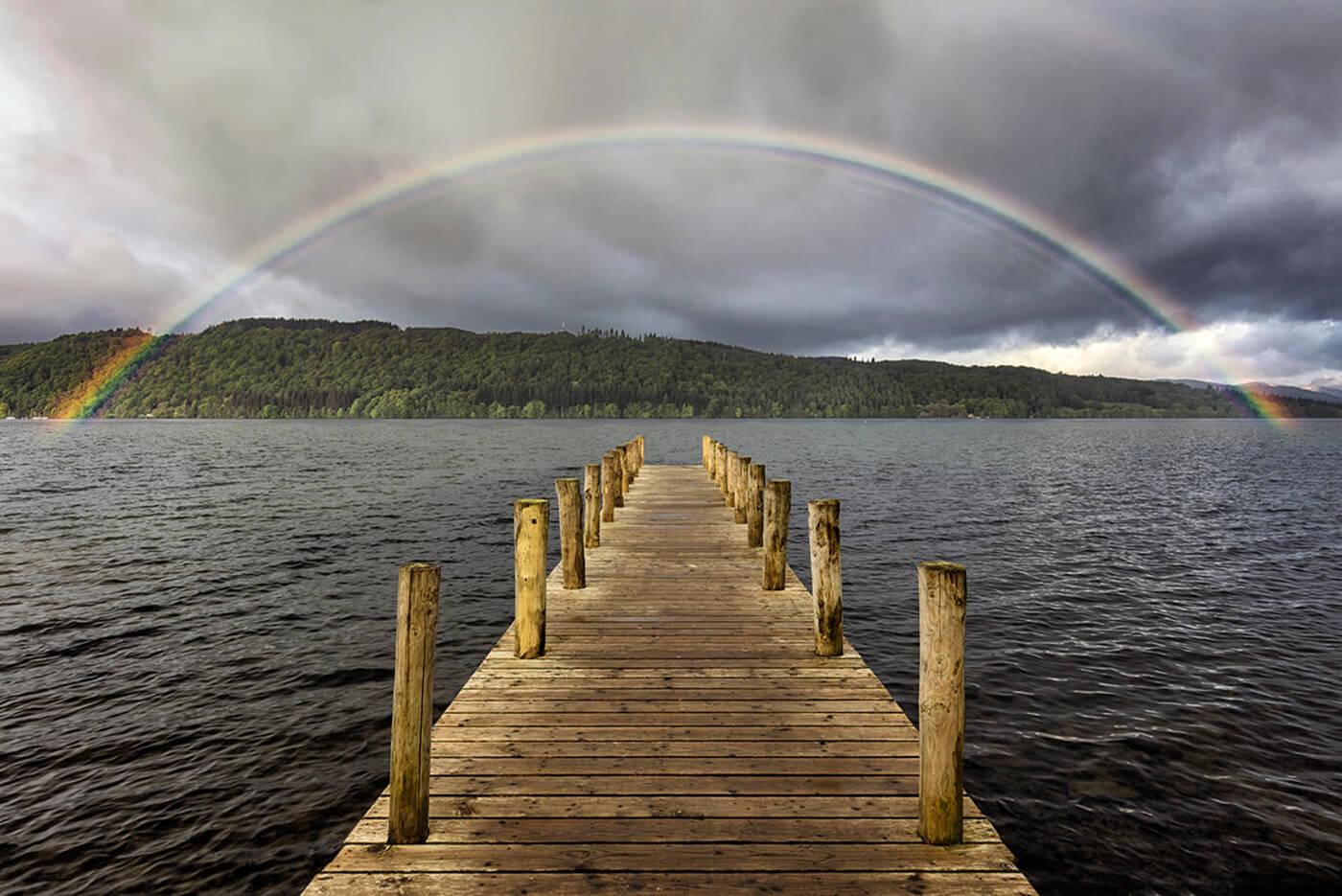 Rainbow, Millerground, Windermere, Lake District