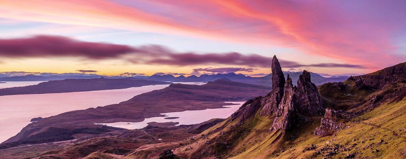 Winter Sunrise, Old Man of Storr, Isle of Skye, Scotland