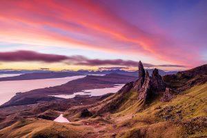 Sunrise, Old Man of Storr, Skye