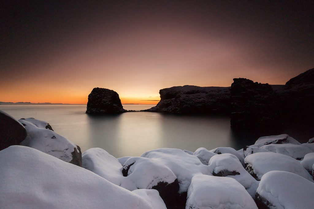 Sunrise, Arnarstapi, Snaefellsnes Peninsula, Iceland