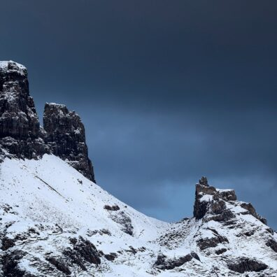 Snow at the Prison and the Needle, Quiraing, Skye