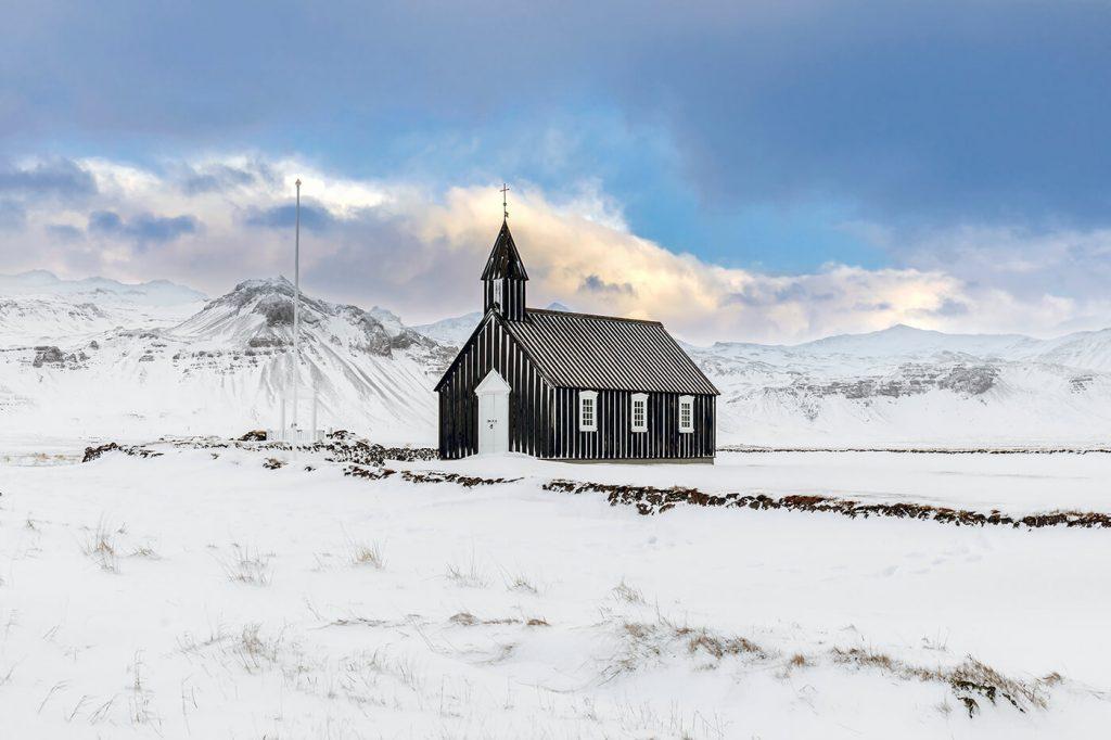 Budir Church, Snaefellsnes Peninsula, Iceland