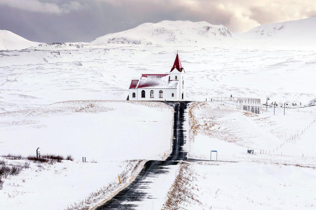 Ingjaldshólskirkja Church, Snaefellsnes Peninsula, Iceland