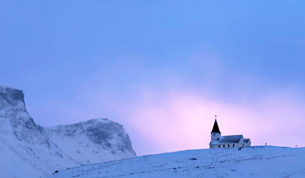 Sunrise, Myrdal Church, Vik, Iceland