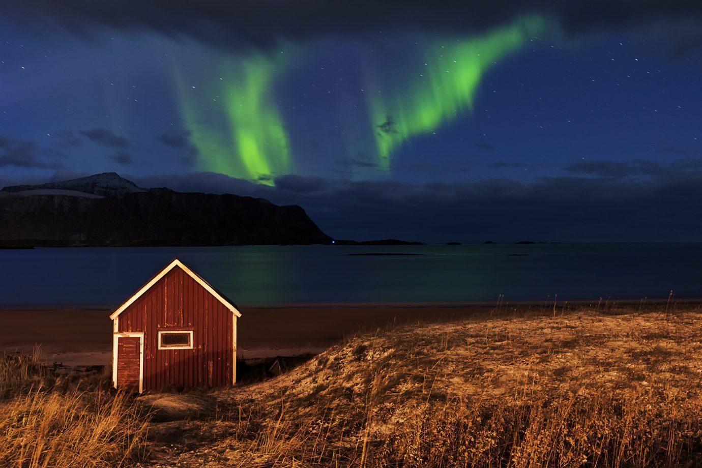Aurora Borealis, Ramberg, Lofoten, Norway, Melvin Nicholson Photography
