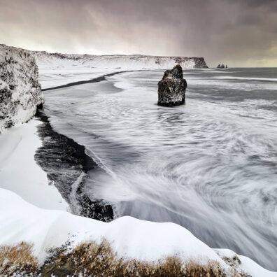 Sea Stacks, Reynisfjara Black Beach, Vik, Iceland