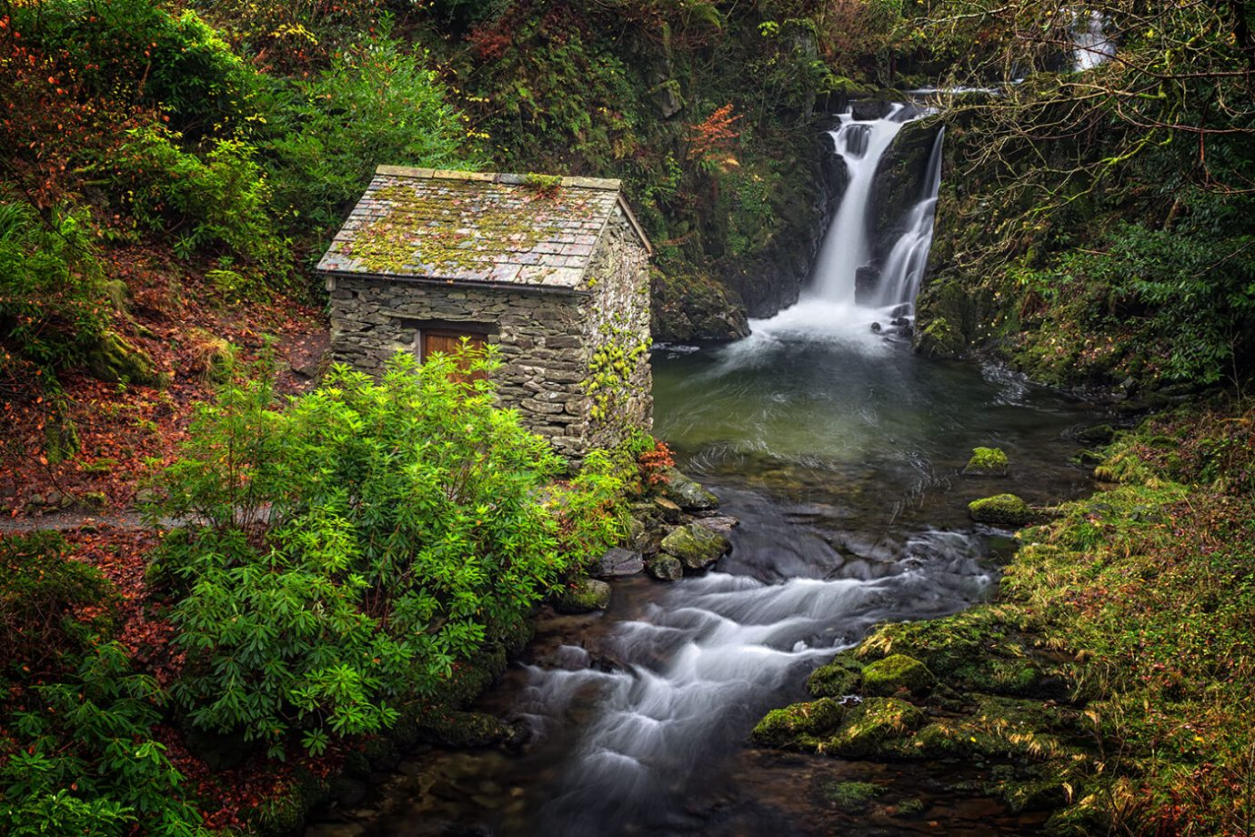The Grotto at Rydal Falls, Lake District