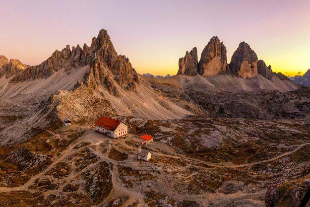 Rifugio Locatelli, Tre Cime di Laveredo, Dolomites, Italy