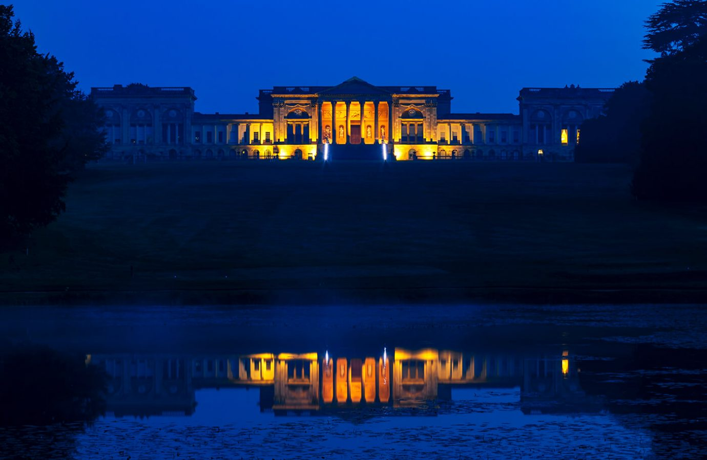 Stowe House Pre-Dawn, Stowe National Trust