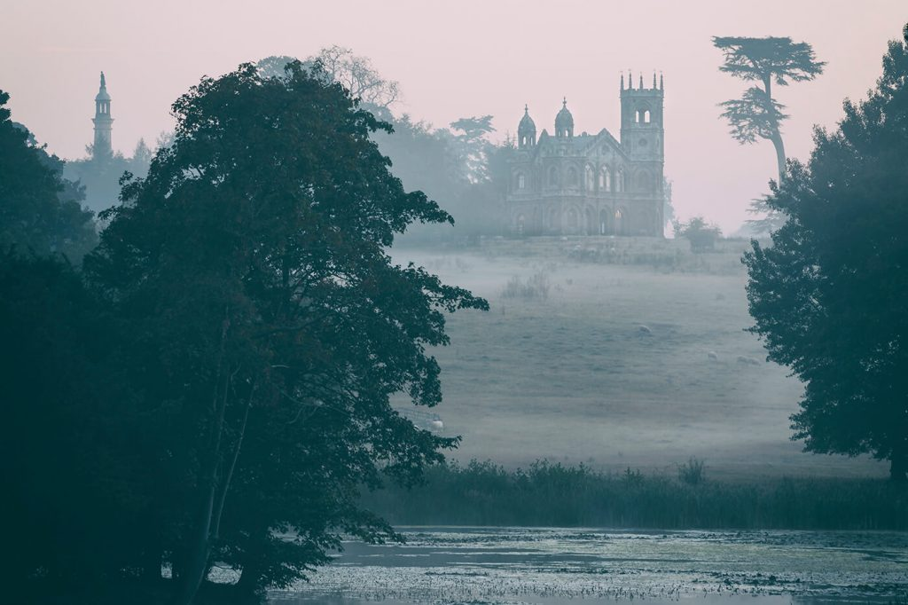 Gothic Temple at Dawn, Stowe National Trust