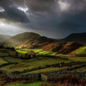 Crepuscular Rays, Martindale, Lake District